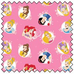 """Princess Circles - PINK - 44"""" x 13.7 M"""