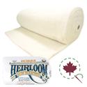 "Heirloom Premium 80/20  Batting - BLEACHED - 108"" x 15 YDS"