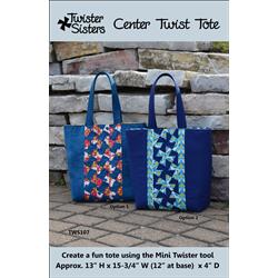 Center Twist Tote  Pattern