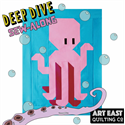 Additional Images for Deep Dive Quilt - #2 DIVER BLOCK
