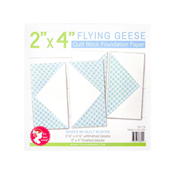 """Flying Geese Quilt Block Foundation Paper - 2"""" x 4"""""""