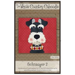 Schnauzer 2 Precut Fused Appliqué Kit