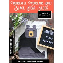 Wonderful Woodland Quilt - BLACK BEAR BLOCK
