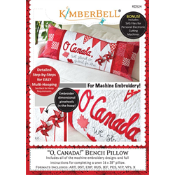 O, Canada! - Bench Pillow Machine Embroidery CD