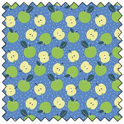 "Apples - BLUE - 44"" x 13.7 M"