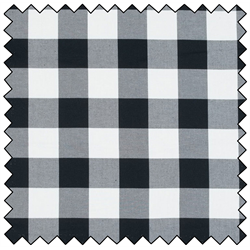 "Lumberjack Flannel - WHITE/BLACK - 60"" x 15 M"