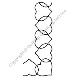 """Heart Border with Corner - 2 1/2"""" Stencil x 3 UNITS"""