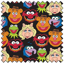 "The Muppets Cast - BLACK - 44"" x 13.7 M"