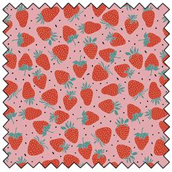 "Strawberries - PINK - 44"" x 13.7 M"