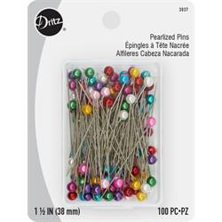 "Pearl Head Pins - 1 1/2"""