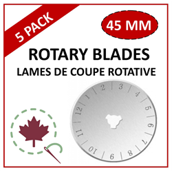 45mm Rotary Blade - 5 PACK