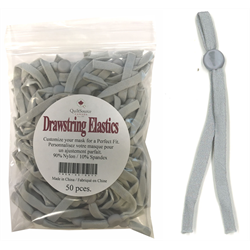Drawstring Mask Elastics - 50 PCS - GRAY