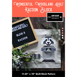 Wonderful Woodland Quilt - RACOON BLOCK