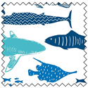 Additional Images for Explore Ocean Fat Quarter Bundle (5)