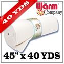 """Warm & White - 45"""" x 36.58 M (40 YDS)"""