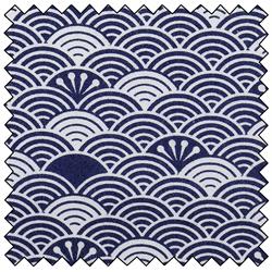 "Waves - NAVY - 44"" x 10 M"