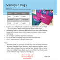 Additional Images for Scalloped Bags Pattern
