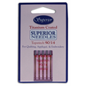Superior Titanium Coated Topstitch Needles -  SIZE 90/14
