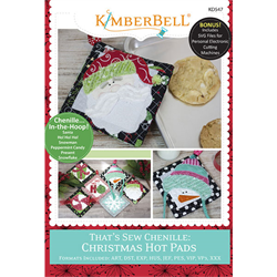 That's Sew Chenille: Christmas Hot Pad - Machine Embroidery