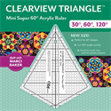 Additional Images for Clearview Triangle Mini Super 60 Acrylic Ruler