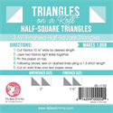 "Triangles on a Roll - 1.5"" Half Square Triangles"