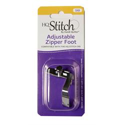 Adjustable Zipper Foot for HQ Stitch 510
