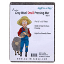 Additional Images for Premium Gray Wool Small Pressing Mat