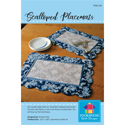 Scalloped Placemats Pattern - JUNE 2018