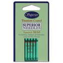 Superior Titanium Coated Topstitch Needles -  SIZE 70/10
