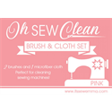 Additional Images for Oh Sew Clean Brush and Cloth Set - PINK