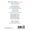 Additional Images for Mini Penelope Pattern NOVEMBER 2019