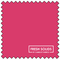 "Fresh Solids - BRIGHT PINK - 44"" x 13.7 M"
