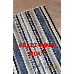 Jelly-Roll Rug Squared  Pattern