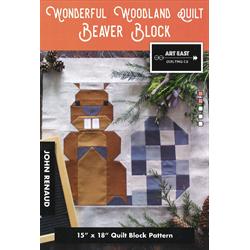 Wonderful Woodland Quilt - BEAVER BLOCK