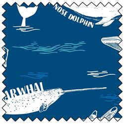 """Explore Ocean Whales - 44"""" x 10 M"""
