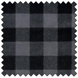 "Lumberjack Flannel - GREY/BLACK - 60"" x 15 M"