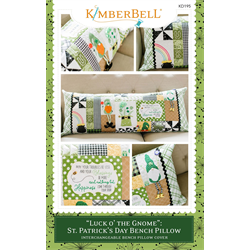 Luck o' the Gnome: St. Patrick's Day - Bench Pillow (Sewing Version)