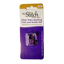 Clear View Quilting Foot and Guide Set for HQ Stitch 210
