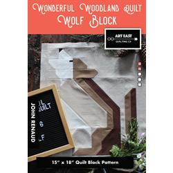 Wonderful Woodland Quilt - WOLF BLOCK