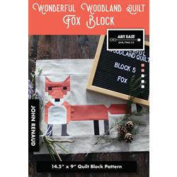Wonderful Woodland Quilt - FOX BLOCK