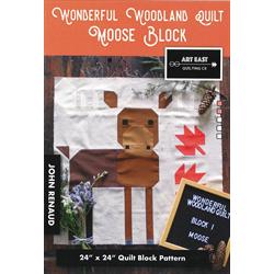 Wonderful Woodland Quilt - MOOSE BLOCK