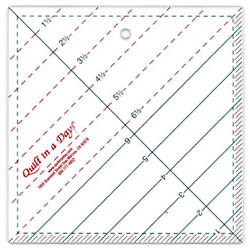 """Triangle Square Up Ruler - 6.5"""""""