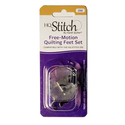 Free-Motion Quilting Feet Set for HQ Stitch 210