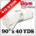 """Warm & White - 90"""" x 36.58 M (40 YDS)"""