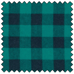 "Lumberjack Flannel - TEAL/BLACK - 60"" x 15 M"